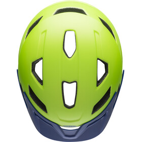 Bell Sidetrack Fietshelm Kinderen, matte bright green/blue
